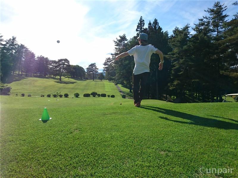 フットゴルフのティー