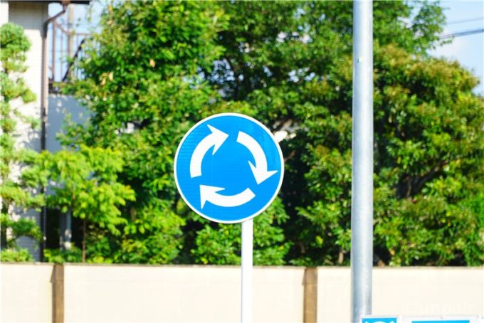 ラウンドアバウトの標識