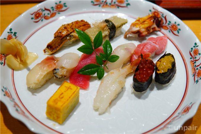 塩竃スタイルのお寿司