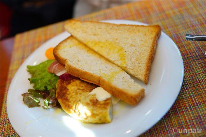 オムレツ&トーストセット