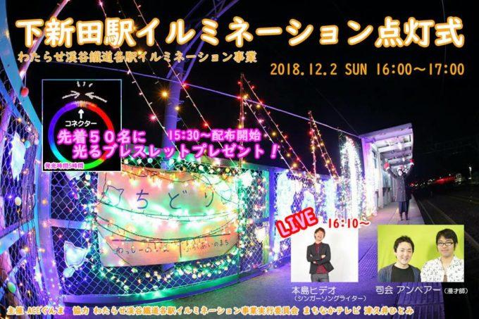 下新田駅イルミネーション点灯式