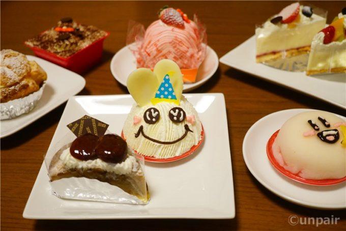 たくさんのケーキ