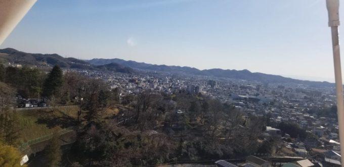 桐生市を一望できる絶景
