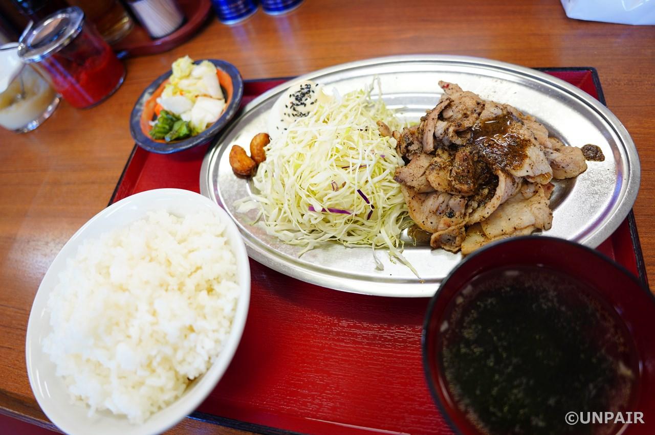 豚バラ黒コショウ焼き定食